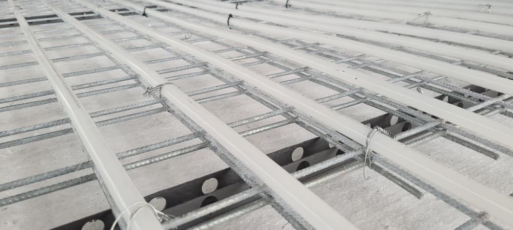 Zwevende vloer met vloerverwarming